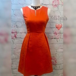 Kate Spade ♠️ Cleo side zip orange dress ❤️NWT
